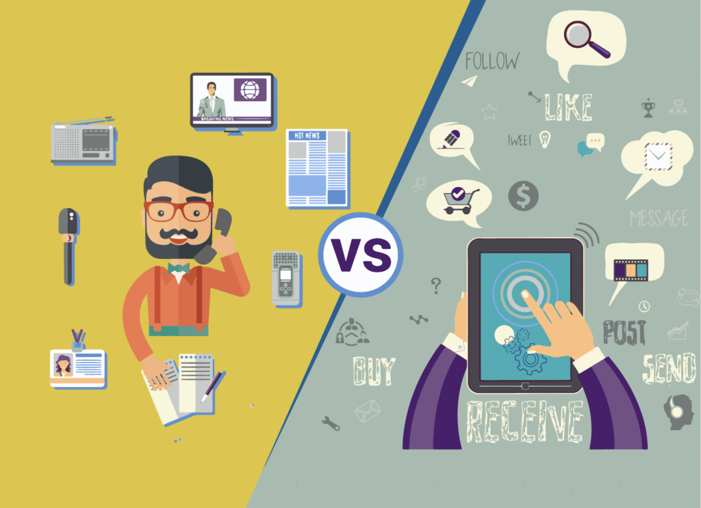 Traditional And Digital Marketing Difference